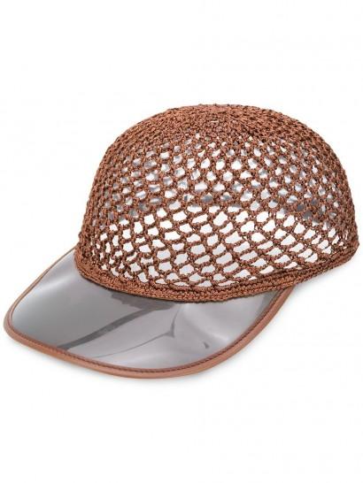 STELLA MCCARTNEY mesh visor cap ~ summer hats & caps