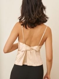 REFORMATION Stella Top Ivory ~ strappy back detail camisole