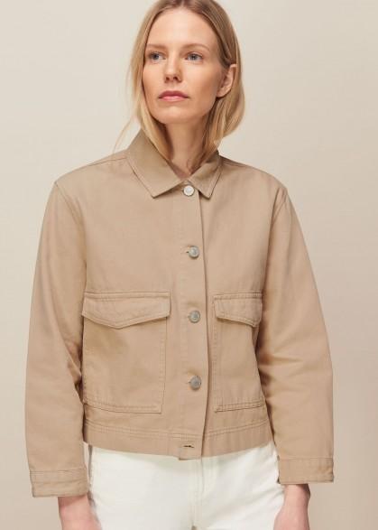 HOBBS ULTIMATE DENIM JACKET STONE / casual jackets