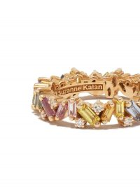 SUZANNE KALAN 18kt rose gold Pastel Rainbow Fireworks Frenzy eternity band ~ multicoloured gem stones