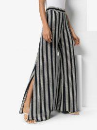 THREE GRACES Philippa wide-leg trousers ~ side split pants