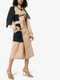 Tiger In The Rain Reworked Burberry Contrast Panel Trench Coat | contemporary coats