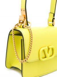 VALENTINO Valentino Garavani VLOGO yellow leather crossbody bag ~ small luxury handbag