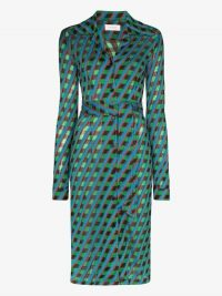 Wales Bonner Celeste Geo Print Midi Dress