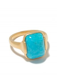 WHITE BIRD 18kt yellow gold Grace turquoise ring