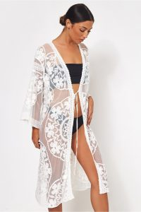 The Fashion Bible WHITE LACE KIMONO – luxe style cover-up