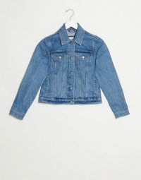 Abercrombie & Fitch class denim jacket in blue – classic casuals