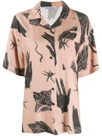 ACNE STUDIOS shell-print short sleeve shirt / seashell prints