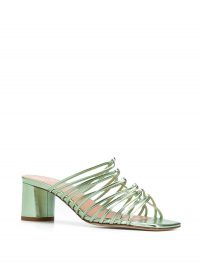 AEYDE Pearl 65mm slip-on sandals pistachio green