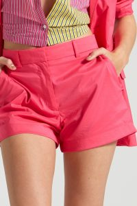 FRENCH CONNECTION AGAZIA COTTON SHORT SHORTS Raspberry Sorbet