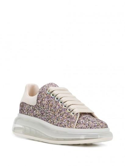 ALEXANDER MCQUEEN Oversized glitter low-top sneakers
