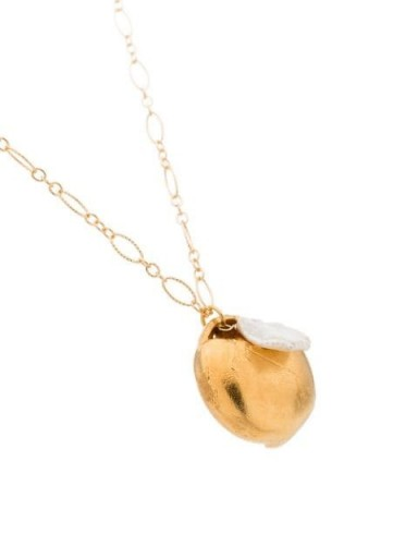 ALIGHIERI 24K gold-plated The Jaja pearl necklace | pendant necklaces