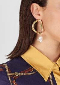 ALIGHIERI The Dante's Shadow 24kt gold-plated earrings / statement pearl drops