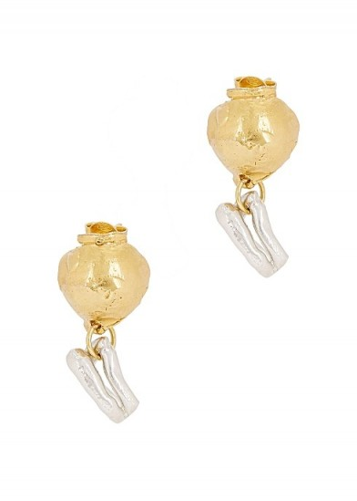 ALIGHIERI The Unbearable Lightness 24kt gold-plated earrings