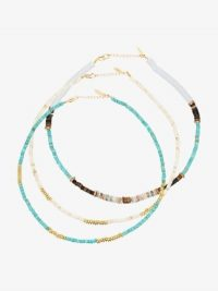ALL THE MUST Gold-Plated Beaded Necklace Set / summer necklaces