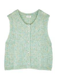 AMERICAN VINTAGE Dolsea green sleeveless mohair-blend cardigan ~ cute cardi