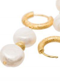 ANNI LU Stellar pearl-embellished huggie earrings