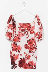Nasty Gal Are You Bouquet Floral Mini Dress