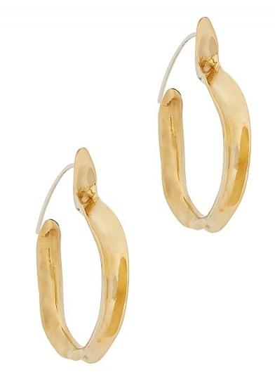 ARIANA BOUSSARD-REIFEL Kiki brass hoop earrings / medium textured hoops