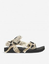 ARIZONA LOVE Trekky Fun leopard-print woven sandals in lace