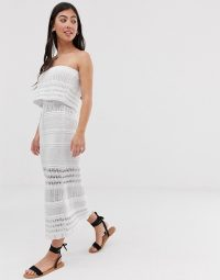 ASOS DESIGN Petite crochet bandeau maxi dress | summer dresses