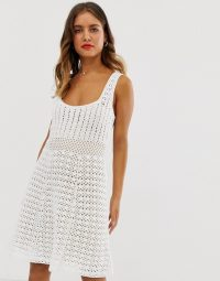 ASOS DESIGN premium hand crochet dress with square neck