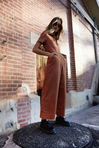 Afends Cora Hemp Boilersuit in Brown