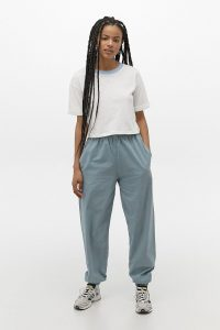iets frans… Sky Blue Washed Poplin Joggers