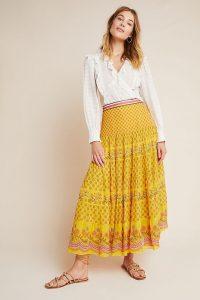 Tanvi Kedia Calinda Maxi Skirt Yellow