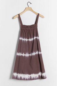 Othilia Bissa Tie-Dye Swing Dress Brown Motif