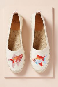 Castañer Kenda Fish Embroidered Espadrilles in Cream