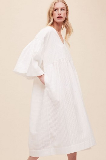 Kotow Organic Cotton Dress White / voluminous summer dresses