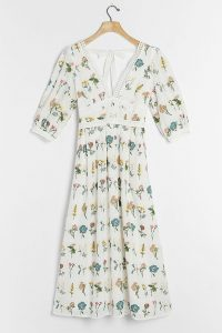 ANTHROPOLOGIE Carla Embroidered Maxi Dress