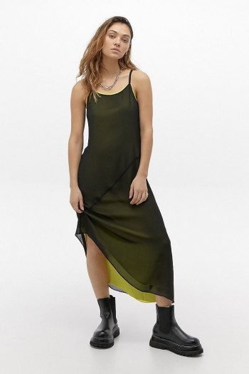 Calvin Klein Jeans Double Layer Slip Midi Dress
