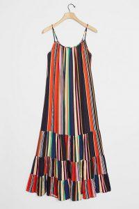 Farm Rio Rainbow Tiered Maxi Dress ~ multicoloured sundress