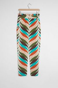 Hutch Raven Printed-Tapered Trousers ~ multicoloured summer pants