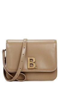 BALENCIAGA B. beige leather cross-body bag ~ designer crossbody bags