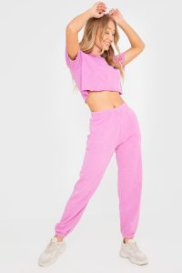 BILLIE FAIERS WASHED PINK LOUNGE JOGGERS