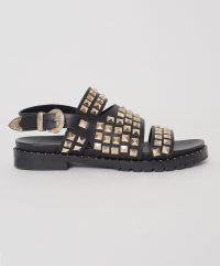 ONETEASPOON BLACK STUDDED VIVIENNE SANDAL | western style sandals