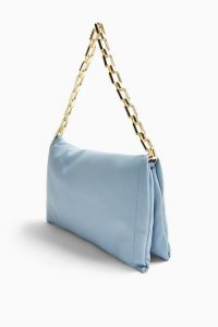TOPSHOP Blue Chain Clutch Bag
