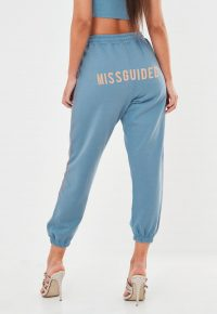 MISSGUIDED blue missguided joggers – logo jogger