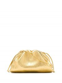 BOTTEGA VENETA mini The Pouch gold-leather crossbody bag