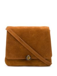 BY FAR Margot brown-suede shoulder bag |