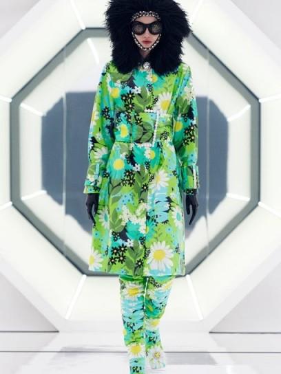 Floral coat / 0 MONCLER GENIUS RICHARD QUINN Charlie floral coated cotton-canvas raincoat
