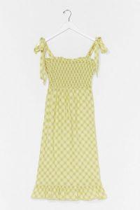 Check Back Later Shirred Midi Dress – nasty gal dresses