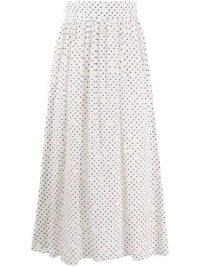 CHRISTOPHER KANE polka dot print pleated skirt / multicoloured spots