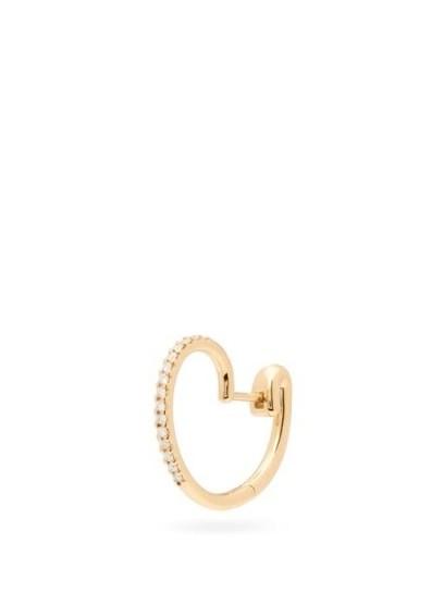 CHARLOTTE CHESNAIS FINE JEWELLERY Cloud diamond & 18kt gold single earring - flipped