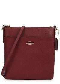 COACH Kitt dark red leather cross-body bag / crossbody bags