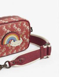 COACH 1941 rainbow monogram canvas cross-body bag red/deep red