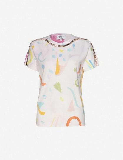 COLLINA STRADA Sporty Spice tie-dye cotton-jersey T-shirt in Memphis / multicoloured tee